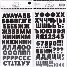 """Картонные стикеры-алфавит """"Чёрный"""""""