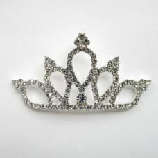 Брошь корона со стразами