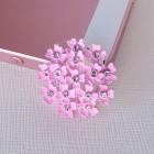 Брошь розовые цветочки, 24*24мм