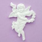 Ангел с сердцем из пластика, 40*50мм