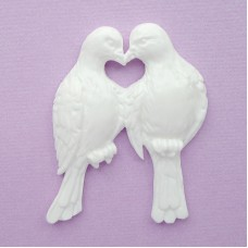 Два голубя из пластика, 45*56мм