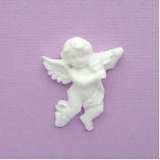 Ангел со скрипкой из пластика, 25*30мм
