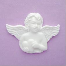 Ангел с сердцем из пластика, 45*60мм