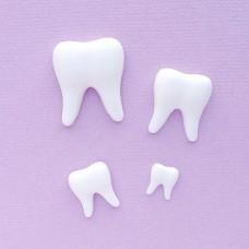 Зубки из пластика, 9*10мм-21*25мм