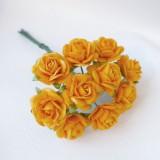 Роза открытая, апельсин. - 15мм (10шт.)