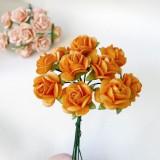Роза открытая, ярко-оранж. - 15мм (10шт.)