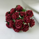 Роза открытая, бордовая - 15мм (10шт.)