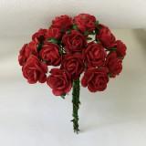 Роза открытая, красная - 15мм (10шт.)