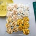 Роза шпалерная, тон желтый, кремовый - 40мм. (20шт.)