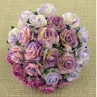 Роза открытая, пурпурно-лиловых тонов – 20мм (50шт.)