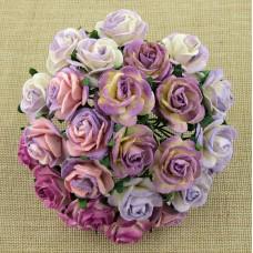 Роза открытая, пурпурно-лиловых тонов - 15мм (50шт.)