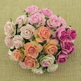 Роза открытая, розовых тонов - 25мм (50шт.)