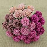 Роза открытая, розовых тонов – 20мм (50шт.)