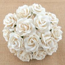 Роза Челси,  цвет белый – 35мм (25шт.)