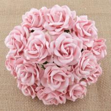 Роза Челси,  цвет бледно розовый – 35мм (25шт.)