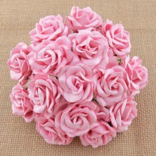Роза Челси,  цвет нежно розовый – 35мм (25шт.)