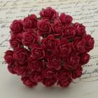 Роза открытая, тон кораллово- красный – 10мм (100шт.)
