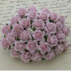 Роза открытая, тон бледно розовый – 10мм (50шт.)