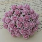 Роза открытая, тон нежно розовый – 15мм (50шт.)