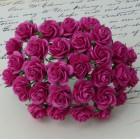 Роза открытая, ярко-розовая – 15мм (100шт.)
