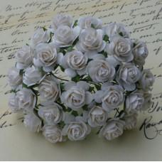 Роза открытая, белая -15мм (50шт.)