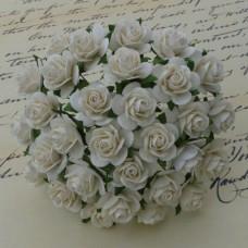 Роза открытая, слоновая кость - 20мм (100шт.)