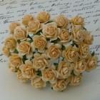 """Роза открытая, тон """"золотая осень"""" – 20мм (100шт.)"""