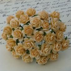 """Роза открытая, тон """"золотая осень"""" – 15мм (100шт.)"""