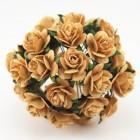 Роза открытая, старое золото - 10мм (100шт.)