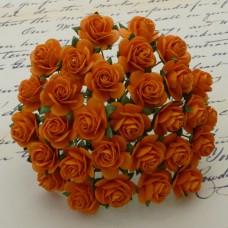 Роза открытая, тон оранжевый - 10мм (100шт.)
