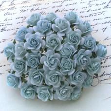 Роза открытая,  тон бледно-голубой – 25мм (100шт.)