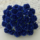Роза открытая, тон темно-синий - 10мм (100шт.)