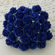 Роза открытая, тон темно-синий - 20мм (100шт.)