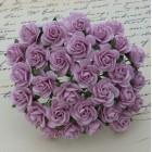 Роза открытая, тон сиреневый - 10мм (100шт.)