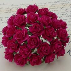 Роза открытая, тон фуксия – 15мм (100шт.)