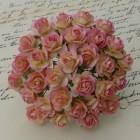 Роза открытая, тон розовый с шампанским – 10мм (100шт.)