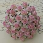 Роза открытая, тон светло-роз./ слон.кость - 15мм (100шт.)