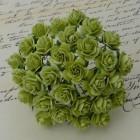 Роза открытая, тон светло-зеленый - 10мм (100шт.)
