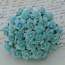Роза открытая, тон пастель зеленая - 10мм (100шт.)