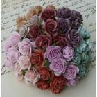 Роза открытая, винтажных тонов – 15мм (100шт.)