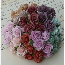 Роза открытая, винтажных тонов - 25мм (100шт.)