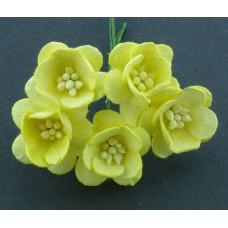 Цветок вишни, желтый - 25мм (50шт.)