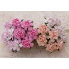 Роза коттеджная, тон бело-розовый – 30мм (20шт.)
