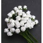 Роза бутоном белая - 10мм (50шт.)