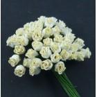 Роза бутоном кремовая - 10мм (50шт.)