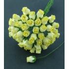 Роза бутоном желтая - 10мм (50шт.)
