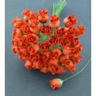 Роза бутоном красная - 10мм (50шт.)