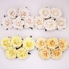 Роза шпалерная, тон желтый, кремовый - 35мм (20шт.)