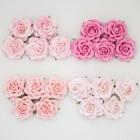 Роза шпалерная, тон розовый - 35мм (20шт.)
