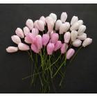 Тюльпан,  тон розовый - 10мм (40шт.)
